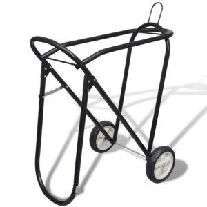 Estante sela de metal com rodas - PORTES GRÁTIS