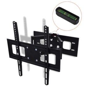 Suporte TV parede 3D braço duplo + inclinação rotação 400x400mm - PORTES GRÁTIS