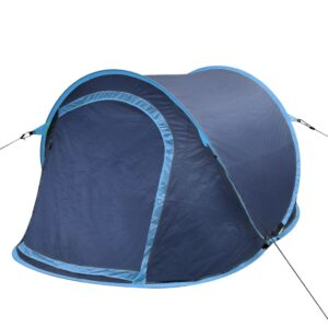 Tenda de campismo pop-up para 2 pessoas Azul marinho/Azul claro - PORTES GRÁTIS