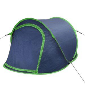 Tenda de campismo para 2 pessoas azul marinho/verde - PORTES GRÁTIS