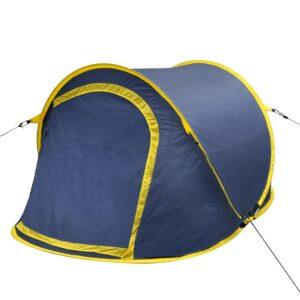 Tenda de campismo para 2 pessoas azul marinho/ amarelho - PORTES GRÁTIS