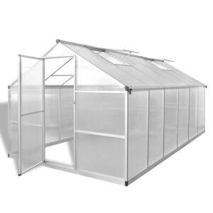 Estufa reforçada em alumínio, com base embutida 9,025 m²  - PORTES GRÁTIS