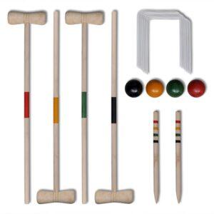 Kit de cricket em madeira para 4 jogadores - PORTES GRÁTIS