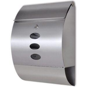 Caixa correio de aço inoxidável - PORTES GRÁTIS