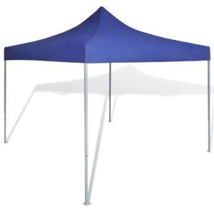 Tenda dobrável 3 x 3 m azul - PORTES GRÁTIS