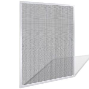 Tela de insectos para janelas 100 x 120 cm - branca - PORTES GRÁTIS