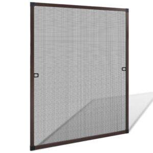 Rede anti-insetos para janelas 80 x 100 cm castanho - PORTES GRÁTIS