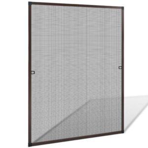 Tela de insectos para janelas - castanho 100 x 120 cm - PORTES GRÁTIS