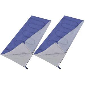 Conjunto de 2 sacos de dormir retangulares leves - PORTES GRÁTIS
