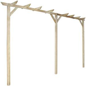 Pérgola de jardim 400x40x205 cm madeira FSC - PORTES GRÁTIS