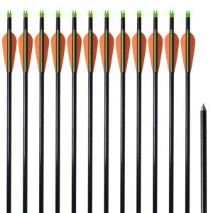 Flechas para arcos 76.2 cm/ 0,8 cm fibra de vidro 12 peças  - PORTES GRÁTIS