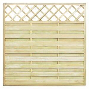 Painel de vedação c/ treliça em madeira FSC 180x180 cm - PORTES GRÁTIS