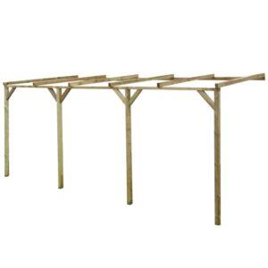 Pérgola inclinada 2x5x2,2 m madeira FSC - PORTES GRÁTIS