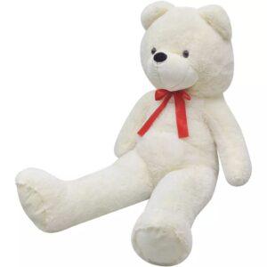Urso de peluche XXL branco 100 cm  - PORTES GRÁTIS