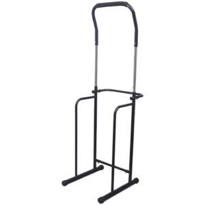 Barra ajustável para pull-ups, 175-224 cm, preta - PORTES GRÁTIS