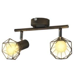Spot light arame estilo industrial + 2 lâmpadas LED filament - PORTES GRÁTIS