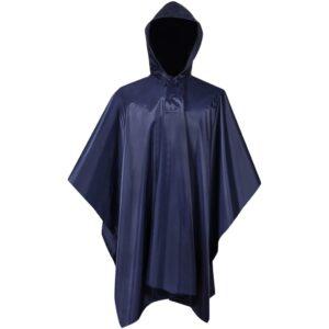 Poncho para chuva impermeável campismo/caminhadas azul-marinho - PORTES GRÁTIS