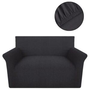 Capa para sofá jérsei algodão antracite - PORTES GRÁTIS