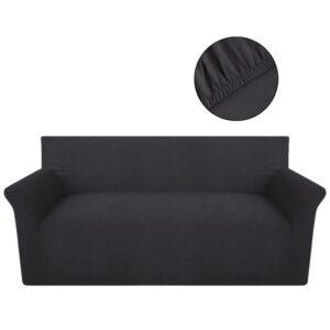 Capa para sofá antracite jérsei algodão - PORTES GRÁTIS