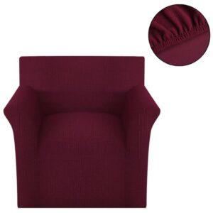 Capa para sofá de poliéster trecho, borgonha  - PORTES GRÁTIS
