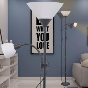Luminária de piso, preto  - PORTES GRÁTIS