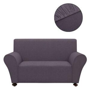 Capa de sofá elástica de jersey de poliéster, antracite - PORTES GRÁTIS