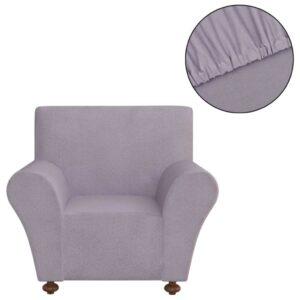 Capa de sofá elástica de jersey de poliéster, cinzento - PORTES GRÁTIS
