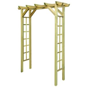 Pérgola 150x50x200 cm madeira impregnada FSC  - PORTES GRÁTIS
