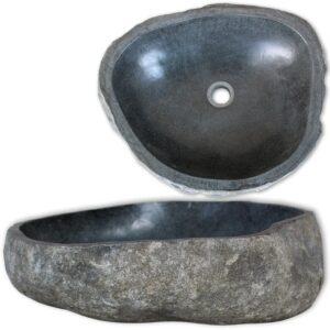 Lavatório pedra do rio oval 46-52 cm  - PORTES GRÁTIS