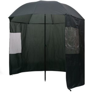 Guarda-chuva pesca, verde, 240x210 cm - PORTES GRÁTIS