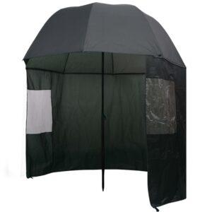 Guarda-chuva pesca, verde, 300x240 cm - PORTES GRÁTIS