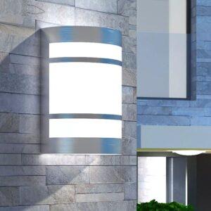 Candeeiro de parede exterior aço inoxidável - PORTES GRÁTIS