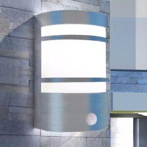 Candeeiro de parede exterior com sensor aço inoxidável - PORTES GRÁTIS