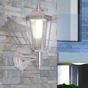 Candeeiro parede exterior iluminação ascendente aço inoxidável - PORTES GRÁTIS