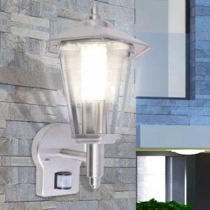 Candeeiro parede iluminação ascendente c/ sensor aço inoxidável - PORTES GRÁTIS