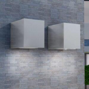 vidaxl Luzes cúbicas parede exterior 2 pcs - PORTES GRÁTIS