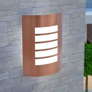 Candeeiro de parede exterior aço inoxidável cobre - PORTES GRÁTIS