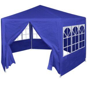Tenda com 6 painéis laterais 2x2 m azul - PORTES GRÁTIS