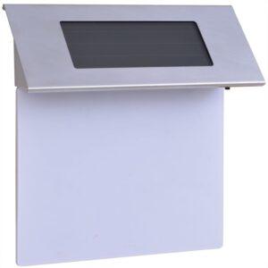 Número habitação com luz LED solar, aço inoxidável - PORTES GRÁTIS