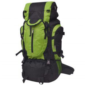 Mochila de caminhada XXL 75 L preto e verde - PORTES GRÁTIS