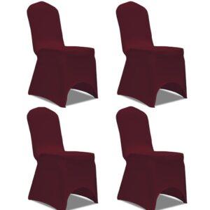 Capa extensível para cadeira 4 pcs bordô - PORTES GRÁTIS