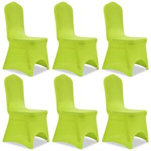 Capa extensível para cadeira 6 pcs verde - PORTES GRÁTIS