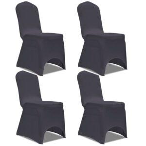Capa extensível para cadeira 4 pcs antracite - PORTES GRÁTIS