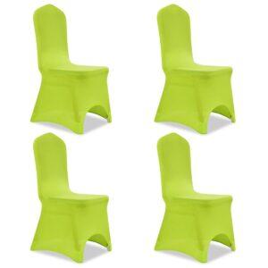 Capa extensível para cadeira 4 pcs verde - PORTES GRÁTIS