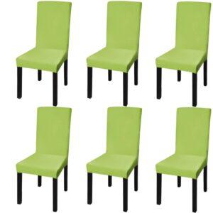Capa extensível para cadeiras, 6 pcs, verde - PORTES GRÁTIS