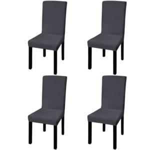 Capa extensível para cadeiras 4 pcs antracite - PORTES GRÁTIS