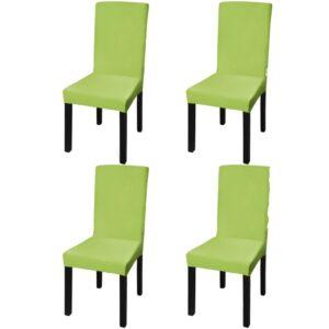 Capa extensível para cadeiras 4 pcs verde - PORTES GRÁTIS