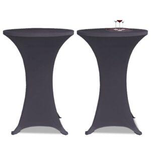 Capa extensível para mesa 2 pcs 60 cm antracite - PORTES GRÁTIS
