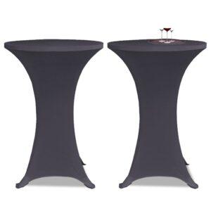 Capa extensível para mesa 2 pcs 80 cm antracite - PORTES GRÁTIS