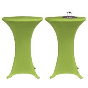 Capa extensível para mesa 2 pcs 80 cm verde - PORTES GRÁTIS